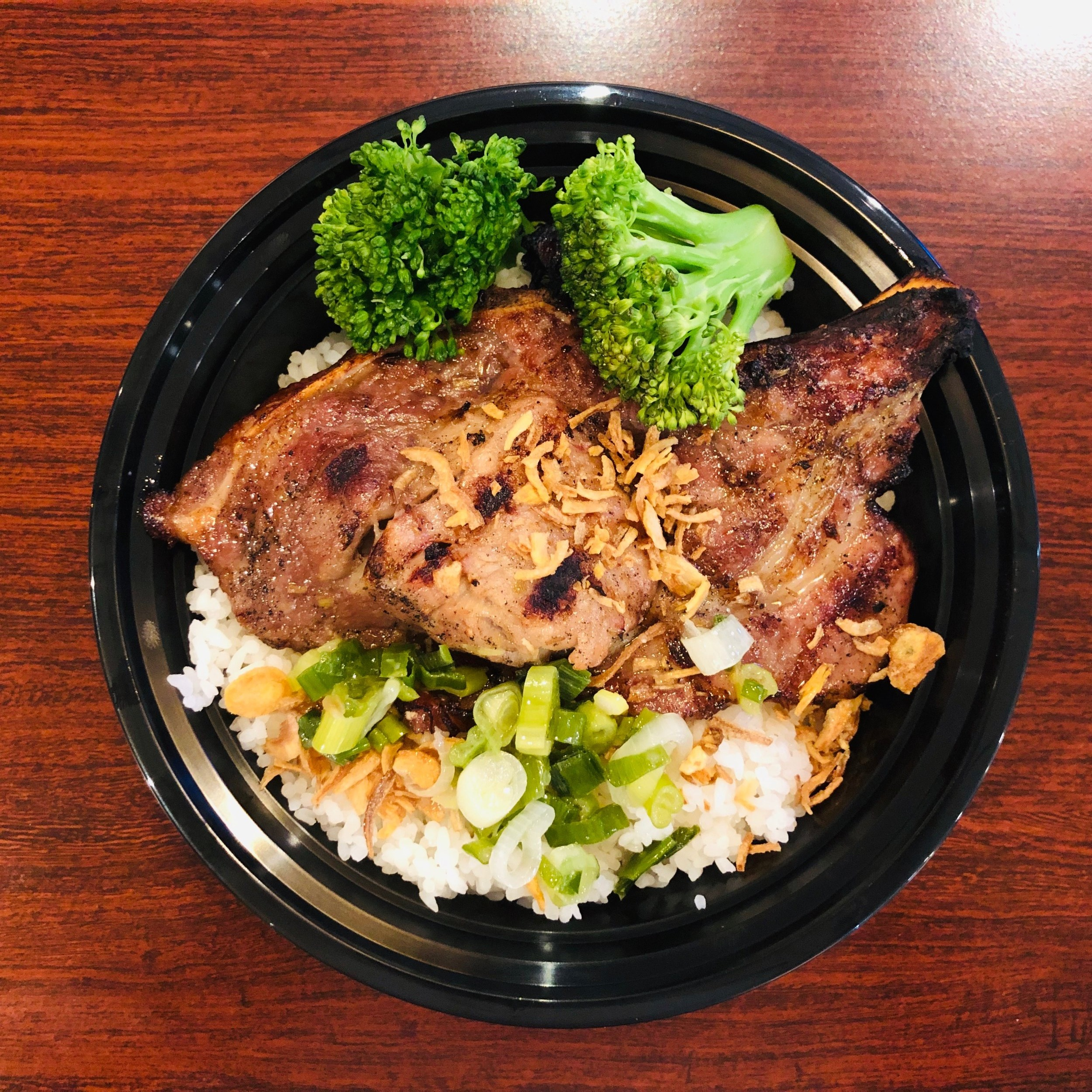Myan's Kitchen - Pork chop rice bowl (small)