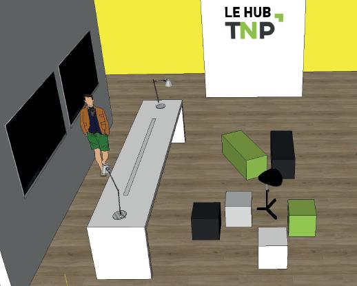 Gate 31 : TNP Hub pour présenter les solutions digitales et innovantes.
