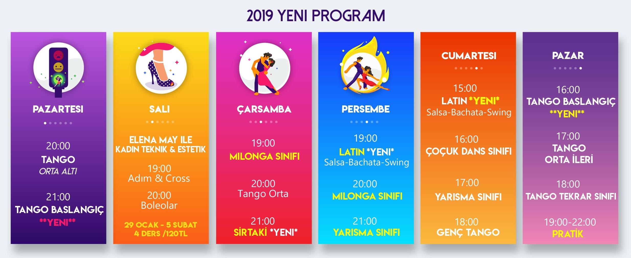 İstanbul anadolu yakası dans kursu / Dans Dersi Program/ TangoPera