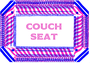 Couch seat (7pm - 12am)    For 3 to 6 people we have two nice settings to enjoy your evening, each with a sofa, chairs and a (low) side table.