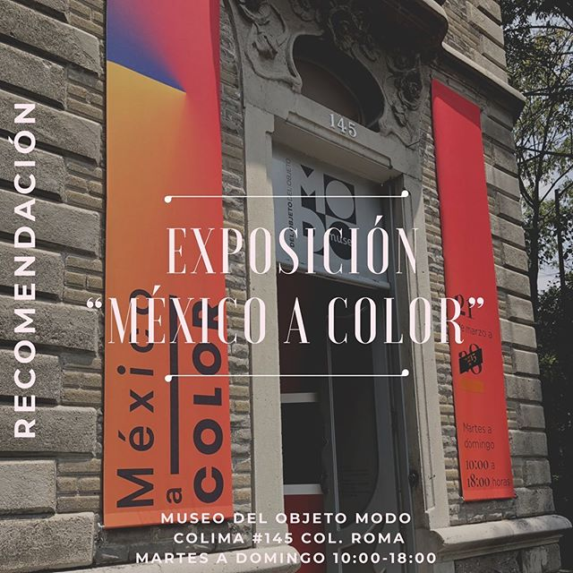 "CULTURAL RECOMMENDATION  Versión en español 👉🏼 @nataliacabarga  The exhibition ""Mexico in color"" that is in the Museo del Objeto @museomodo shows, from different and small sections, how the color became, at the beginning of the 20th century, a symbol of identity of Mexico and how this in the 1940s was ""exported"" abroad creating an image of our country that to date identifies and distinguishes us.  The rooms on the second floor present different objects of the 20th century, which belong to the museum's collection, and are grouped by colors, showing the fashions of different decades in the brands regarding the use of color.  The exhibition has just extended its dates until October and it can be visited from Tuesday to Sunday from 10: 00-5: 00 pm at Colima # 145, Col. Roma  #recorridosconhistoria @recorridosconhistoria  #visitmexico #cdmx #quehacerencdmx  #timeoutmexico #mexicotravel #culturamexico #mexicocity #actividadesculturales #tequieromexico #cdmxcultura #conocemexico #disfrutamexico #viajapormexico #travelmexico #ciudaddemexico #mexicocity #adictosalaciudad #CDMX #dondeir #museomodo #exposicion"