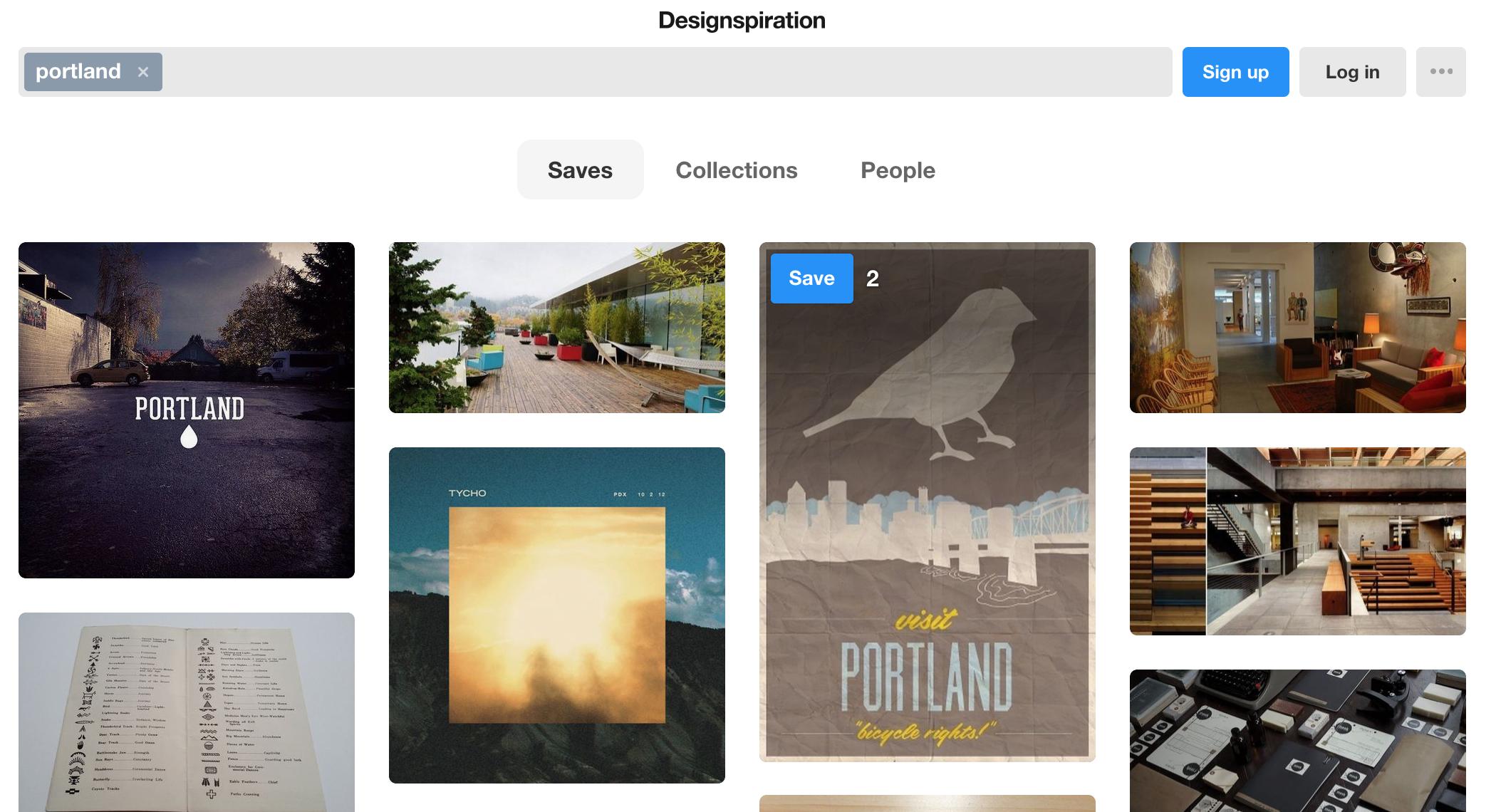 designspiration content marketing