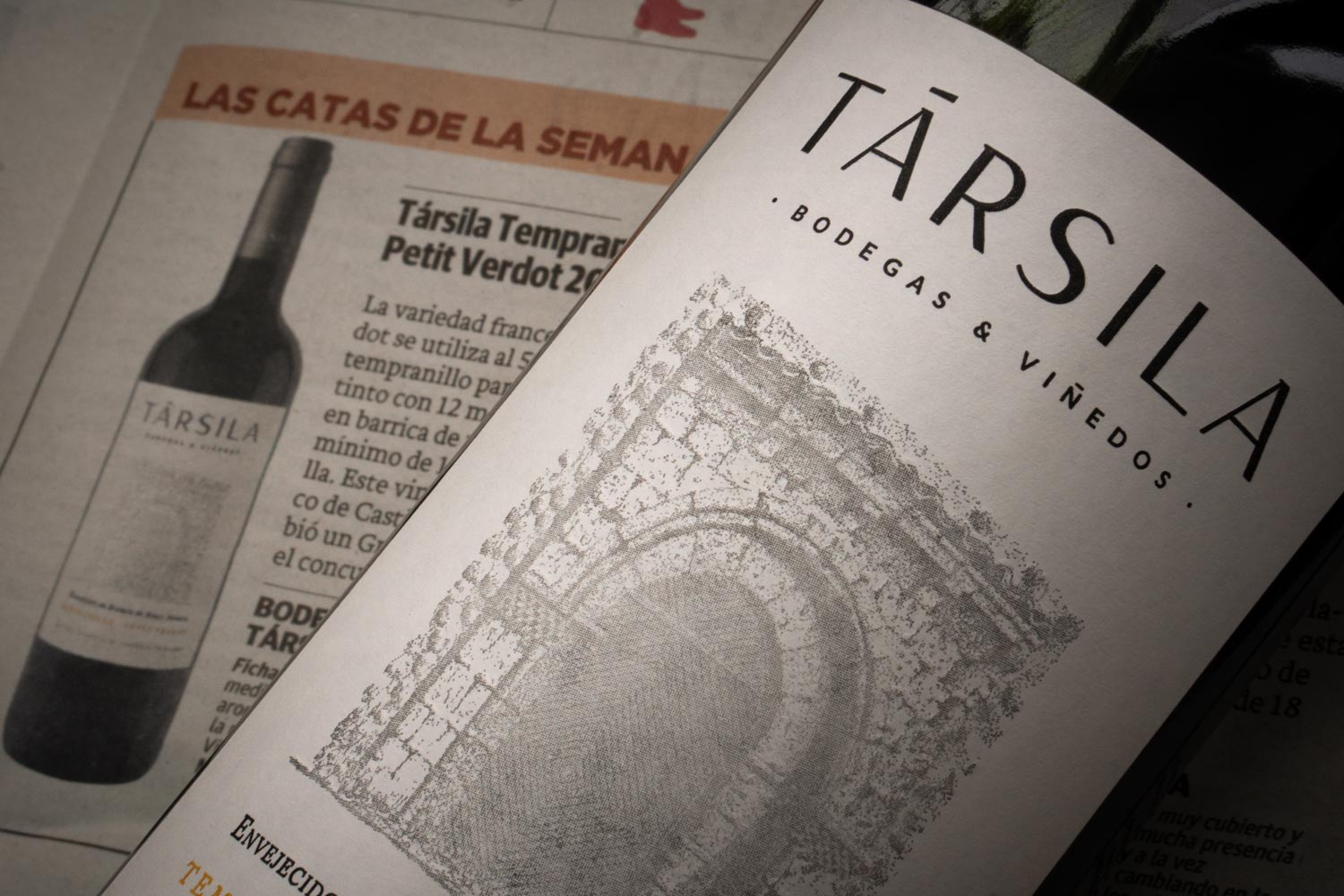 Társila 12 Months highlighted in the wine supplement of the spanish newspaper Norte de Castilla y León