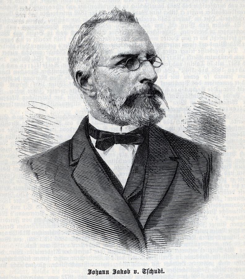 Johann Jakob von Tschudi / Imagem acervo Stadtbibliotheken de Trier Site tripota.uni-trier.de