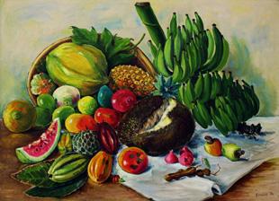 Frutas da Bahia - óleo sobre tela. Salvador, 1974