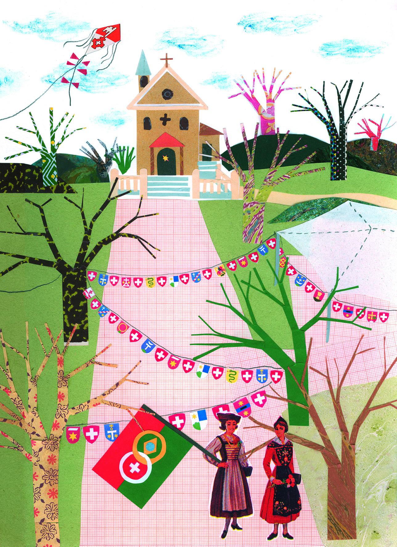 Técnica mista, por Silvia Amstalden, 2009  Acervo Silvia Amstalden