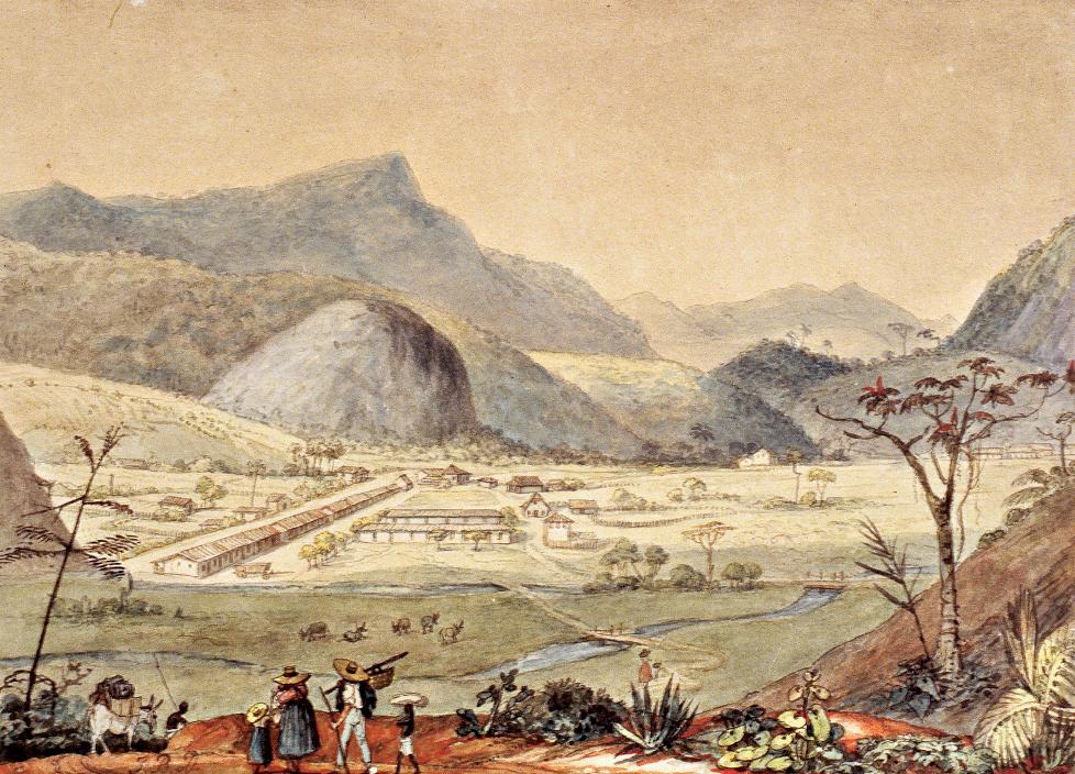 Jean-Baptiste Debret (1768- 1848), A colônia suíça de Cantagalo (detalhe) | Foto Horst Merkel | Acervo Museus Castro Maya/IBRAM