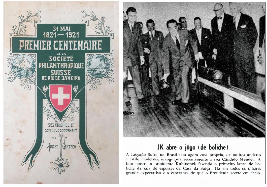 100 anos da Sociedade Filantrópica Suíça | Revista Manchete, 02.06.56
