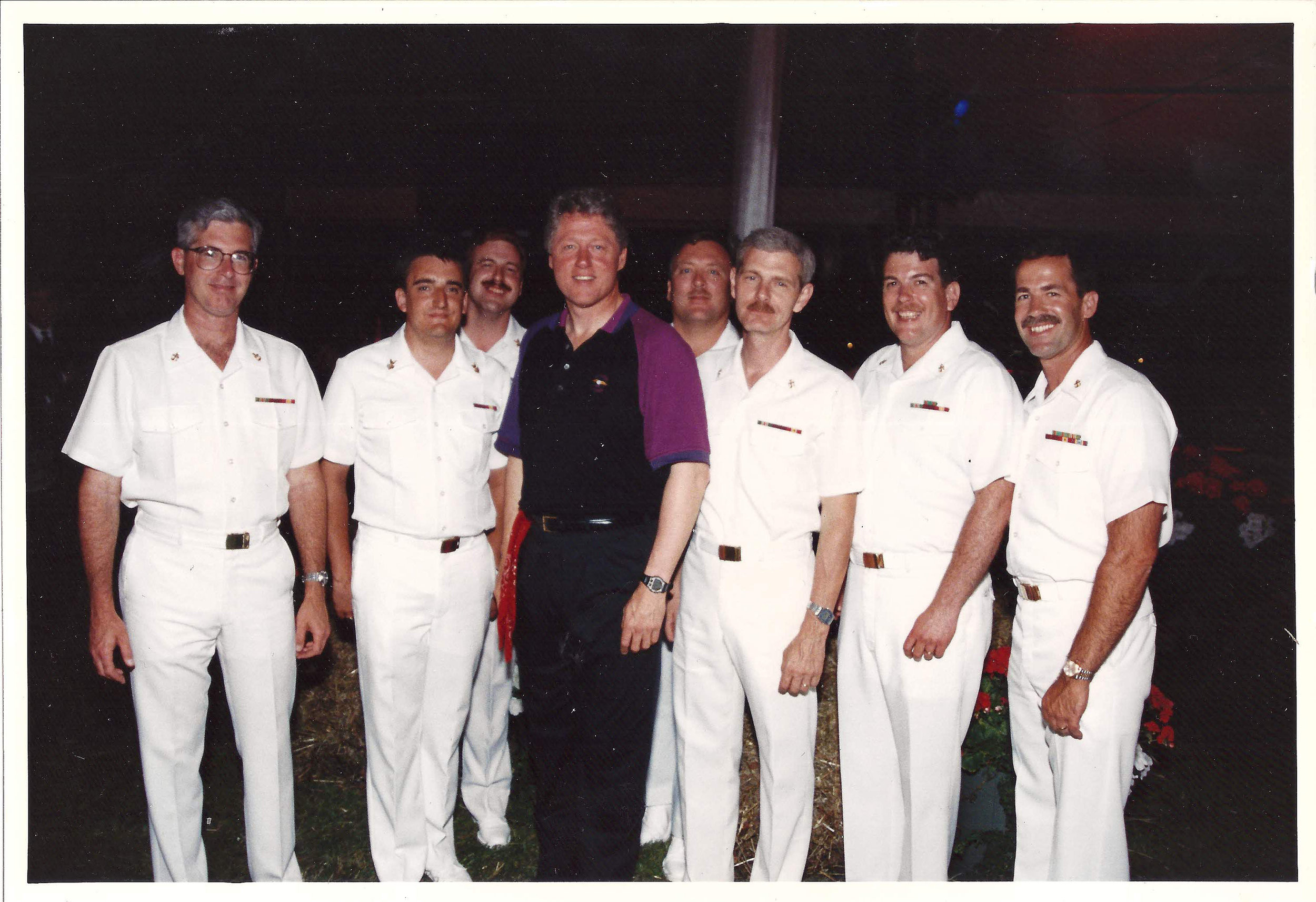 Wayne Taylor US Navy Band Country Current with Former President William Clinton