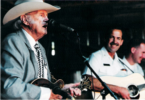 Wayne playing with father of bluegrass music bill Monroe