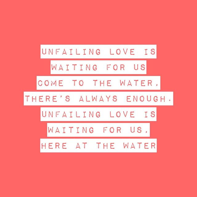 COME TO THE WATER lyrics from our new live album 'Until You Do'  Link in bio.
