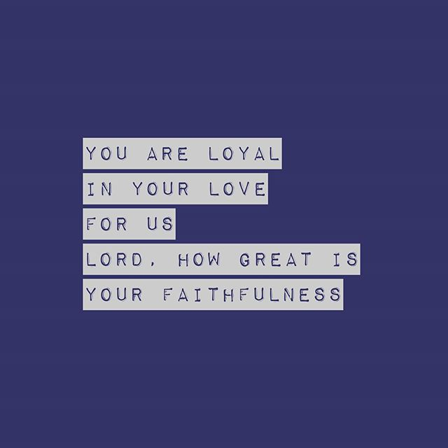LOYAL IN YOUR LOVE lyrics from our new live album.  Link in bio.