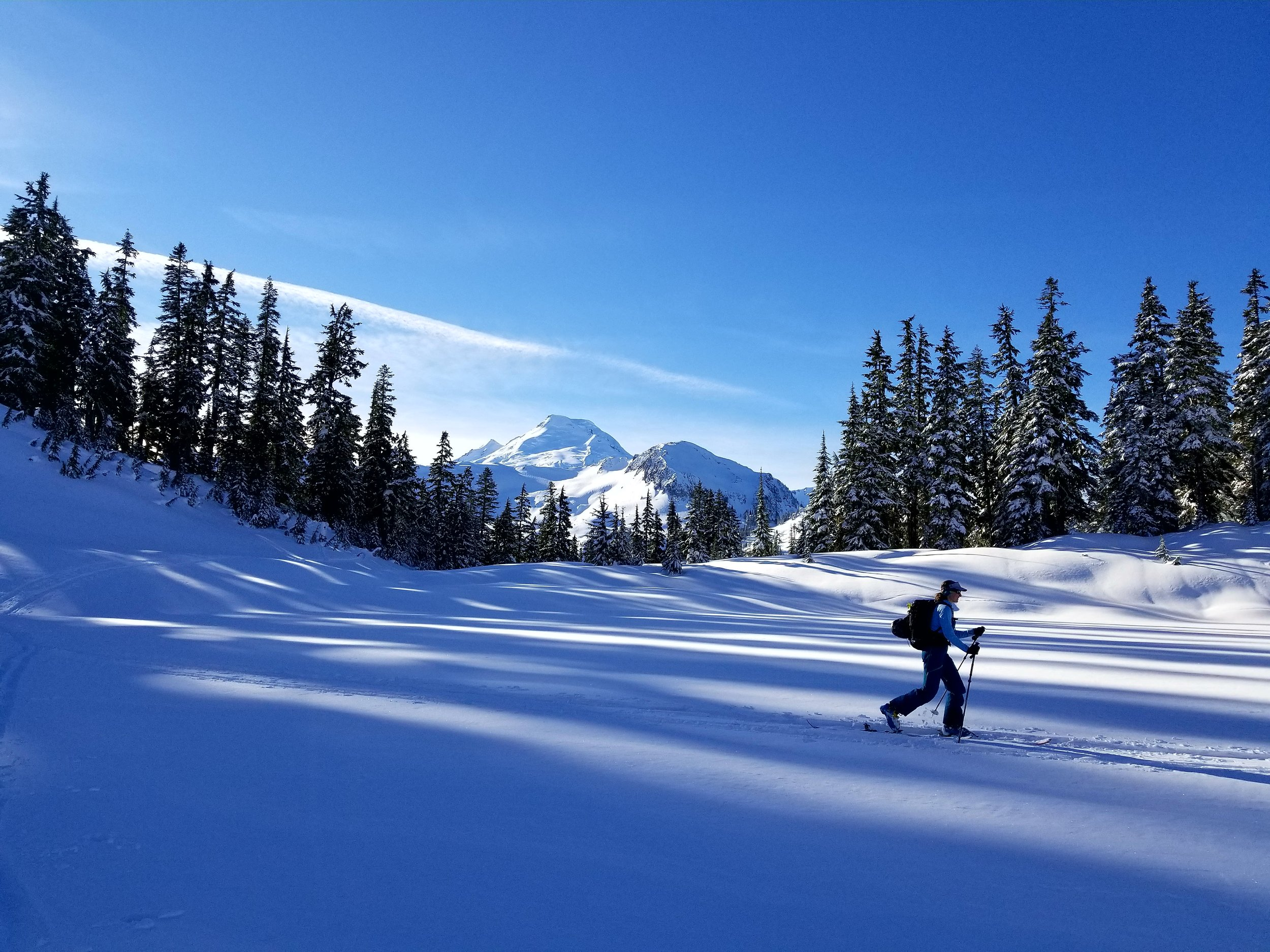 Something profound about crossing the shadows of giants in Mt Baker Wilderness.