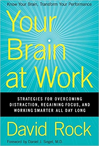 Your Brain at Work by David Rock is one of the most useful books we have come across for a long time! A superb foray into how our biology holds us back in interpersonal and work situations and how simple awareness can have tremendous impact on our effectiveness and satisfaction. A must read with high level science offered in easy to digest anecdotes and exercises.
