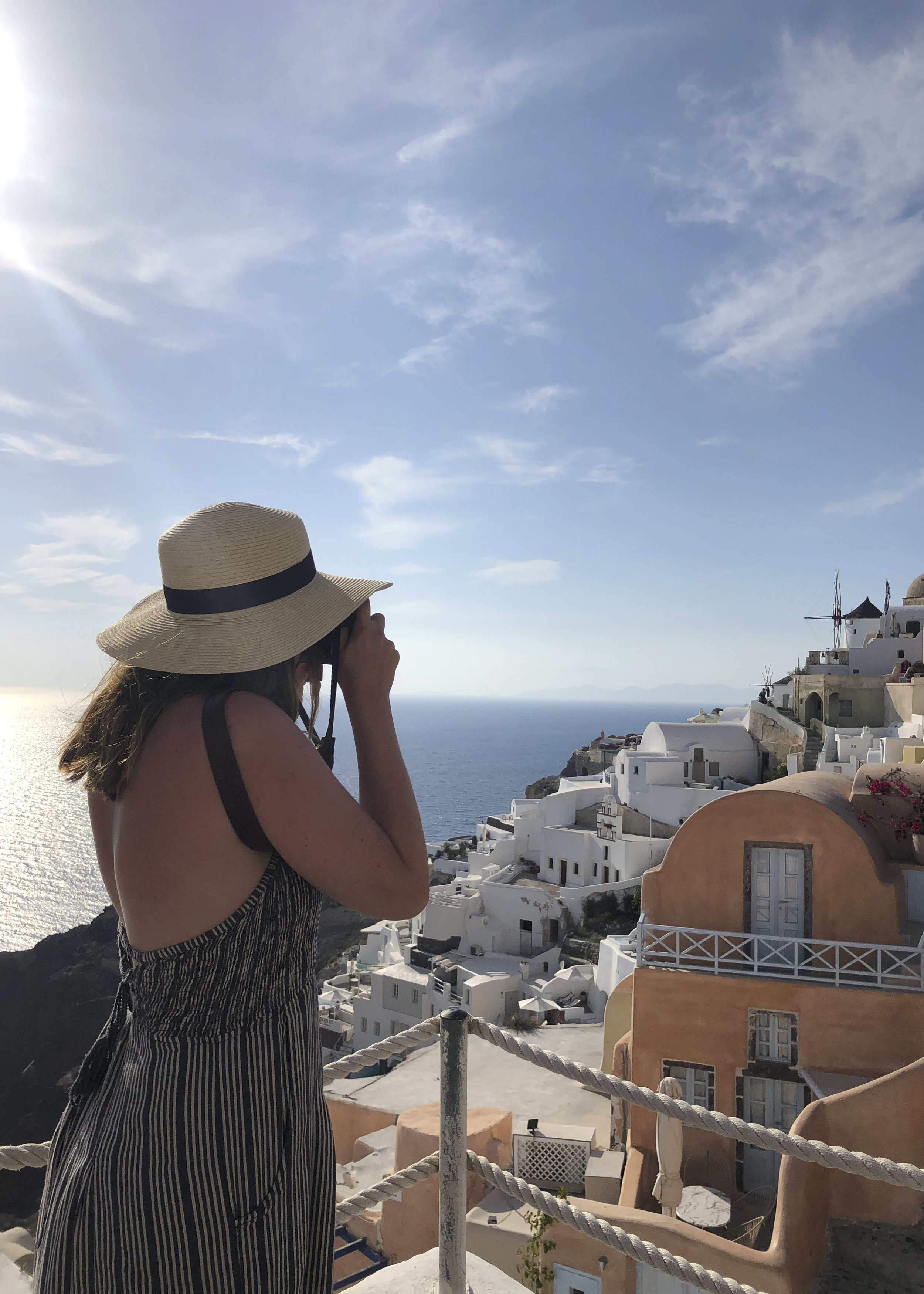 Amazing views from the heart of Oia, Santorini.