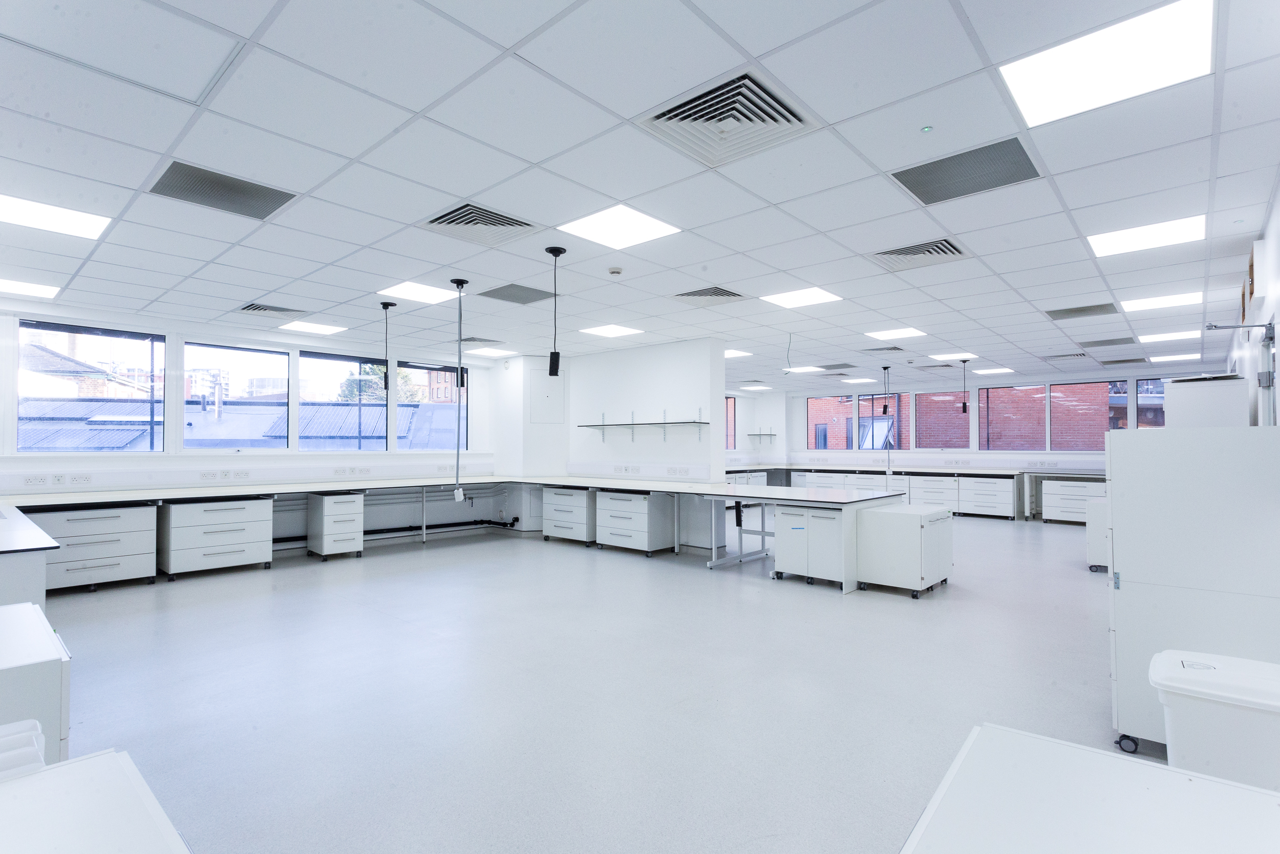 High specification laboratories and write-up suites