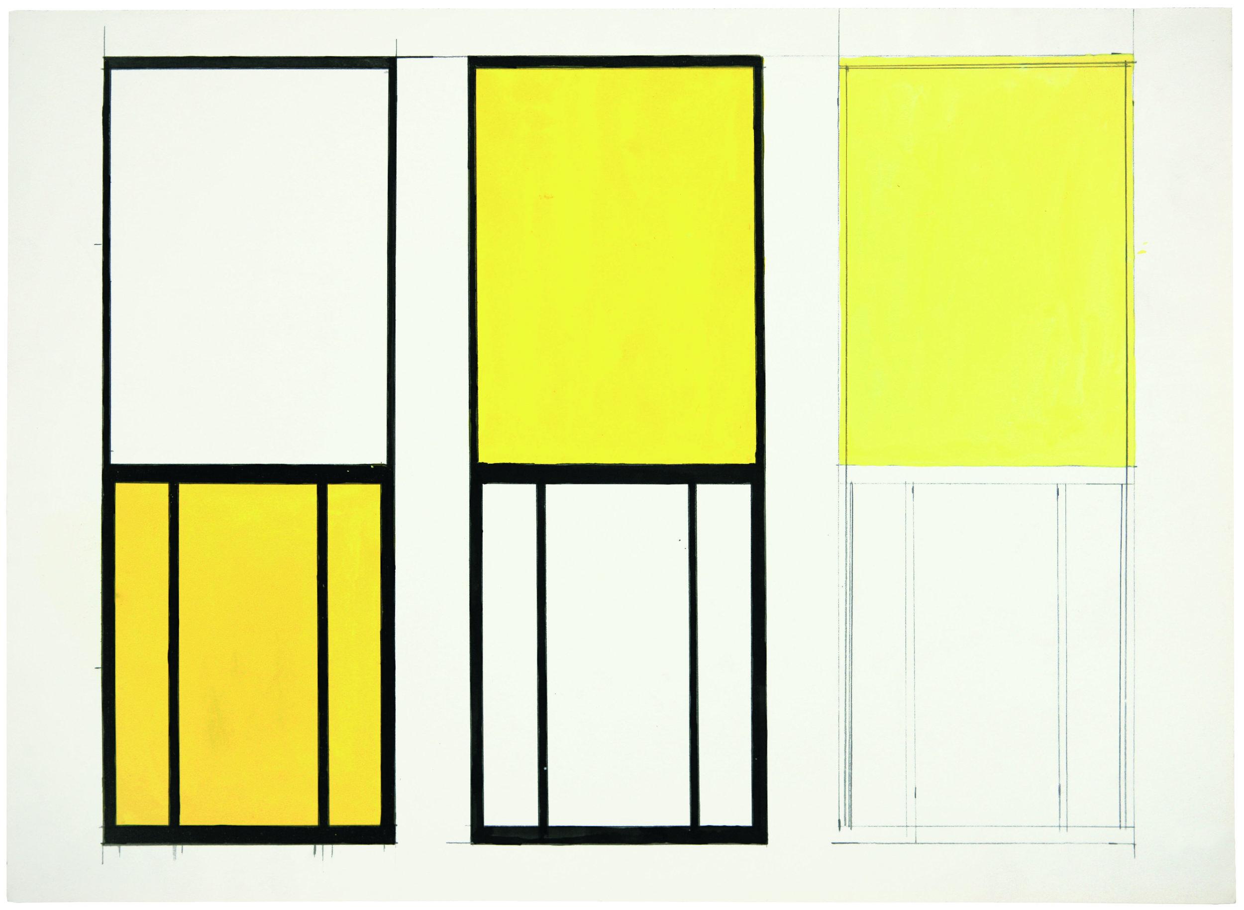 Study for Window, Museum of Modern Art, Paris - Ellsworth Kelly