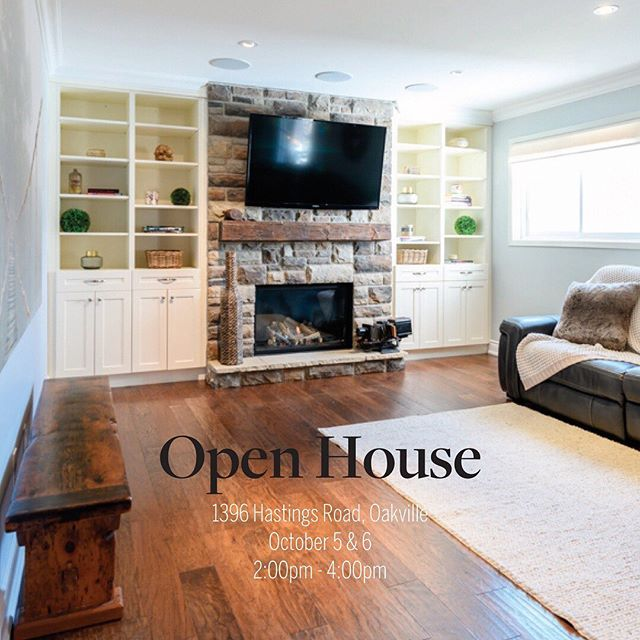 Open House Alert 🚨  This weekend October 5 & 6  1396 Hastings Road, Oakville  This 3+1 Bed, 4 Bath home on a quiet crescent backing on to a park is the ideal family home! Minutes to the GO station, QEW, 403 & 407 and steps to sought after schools, be sure to come by and take a look!