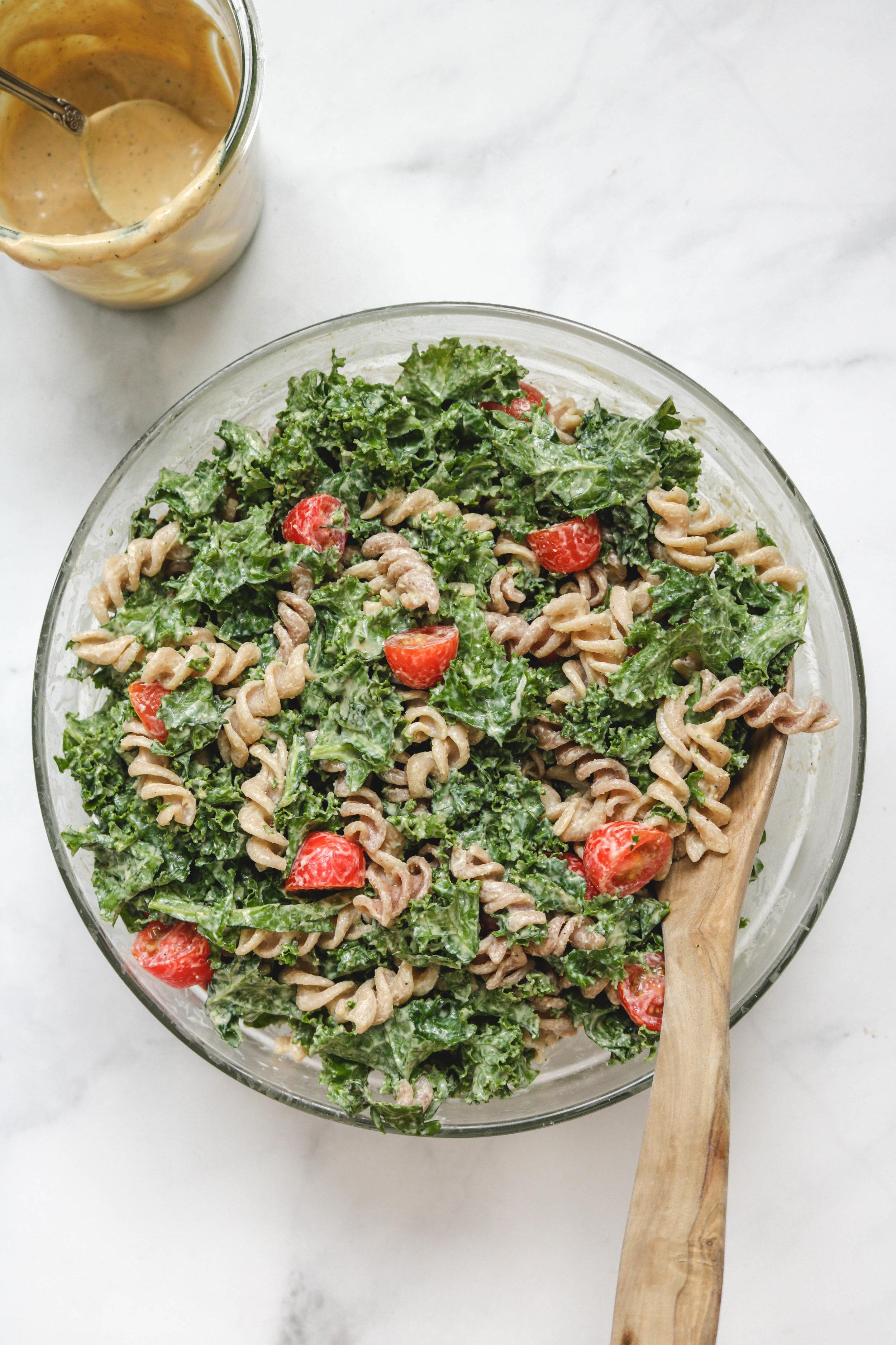 miso caesar kale pasta salad with smoky tempeh -6.jpg