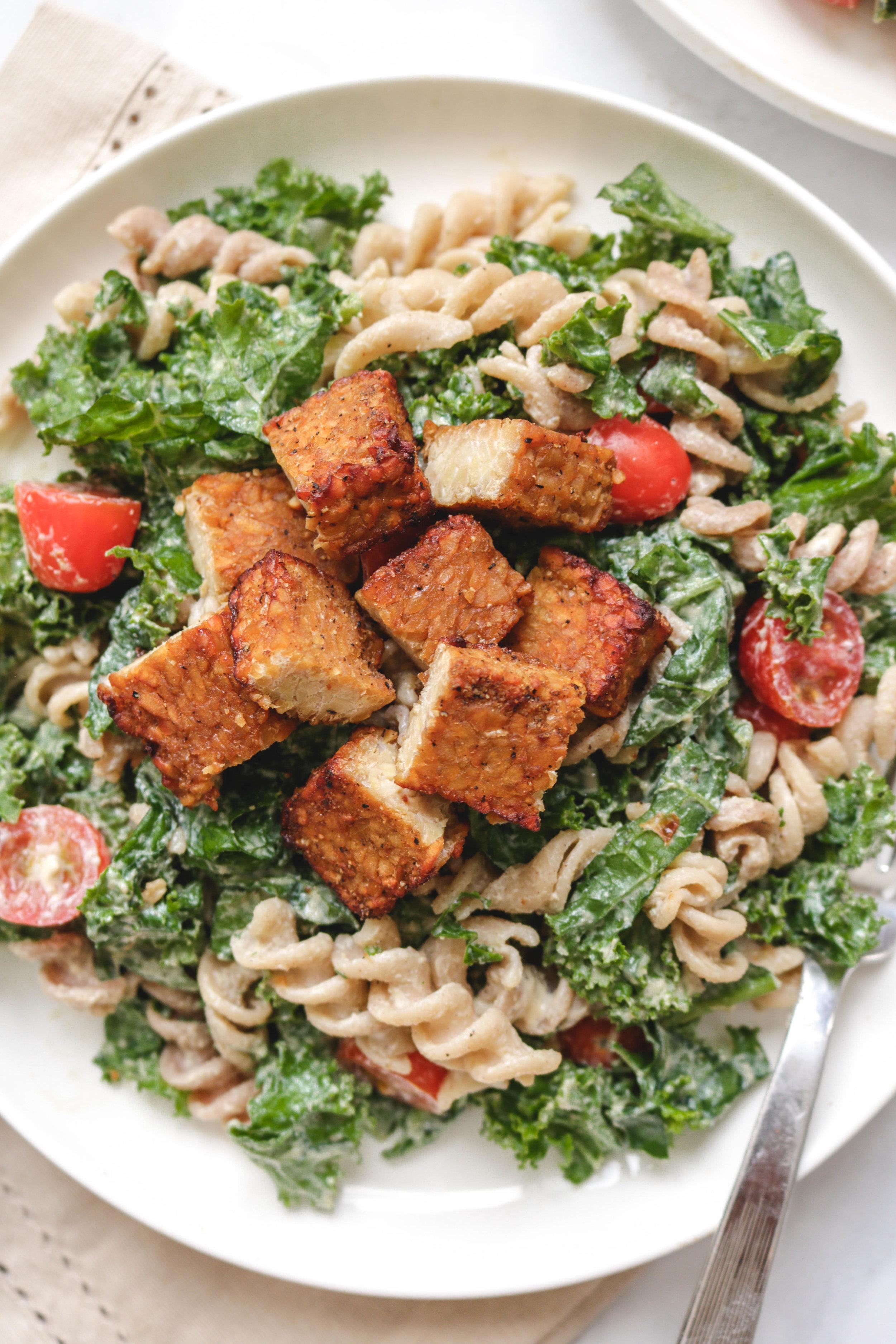 miso caesar kale pasta salad with smoky tempeh -14.jpg