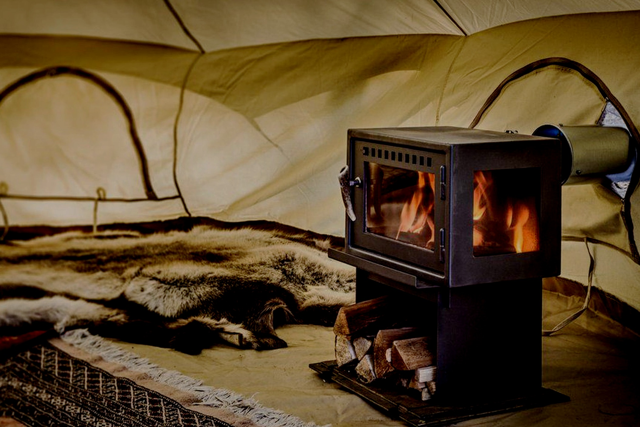 STAY IN COSY BELL TENTS ON OUR OWN WILD ISLAND -