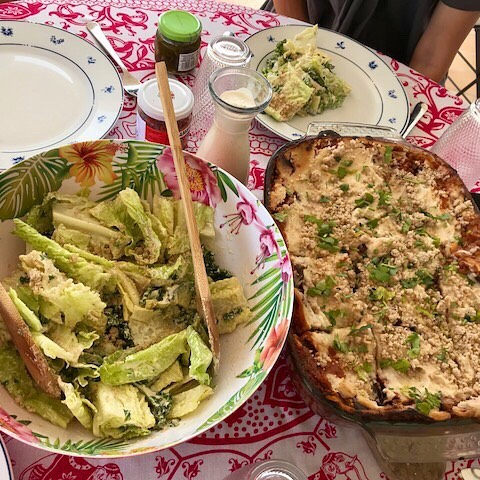 When people arrive at the villa.... Caesar Salad and lasagna. #vegan #tastyfoods #moreplease 🦋 Yoga Affirmation and 5 Minute Meditation 🧘♀️ Day 17 of 21 I express my truth with confidence❤️ Find a quiet 🤫 place Close your eyes 👀  Take a deep breath into the pit of your stomach and hold. Exhale. I express my truth with confidence ❤️ We all know those people with a quiet confidence who don't express themselves often but when asked a question give a thoughtful authentic answer.... 🦋 Which is generally outside of the box 📦 according to societal norms 🦋. An answer on divorce or dieting, on finances or family even on politics and faith (those two old taboos)! 🦋 And even though their opinion is different maybe from yours it just sounds so right. 🦋 Where do they get those telling answers when we search the internet for the right thing to say and come up short 🦋 My favourite people to ask are carpenters who spend a lot of time alone with their craft, working with natural woods using ancient techniques of measure no and shaping. 🦋These are men whose job is a permanent meditation 🧘♀️ (and yes Jesus was a carpenter) 🦋 Alone with their thoughts they are able to align with their inner wisdom better than most and give careful and often profound and authentic answers 🦋 Be like the carpenter today and listen to your inner wisdom. gently push the thoughts with which you don't not feel aligned to one side. 🦋 Take a few more minutes 🦋 Take a deep breath in and smile then release. Open your eyes 👀 and come back to yourself.