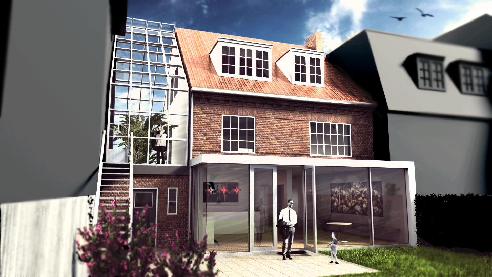 Ontwerp uitbreiding woonhuis