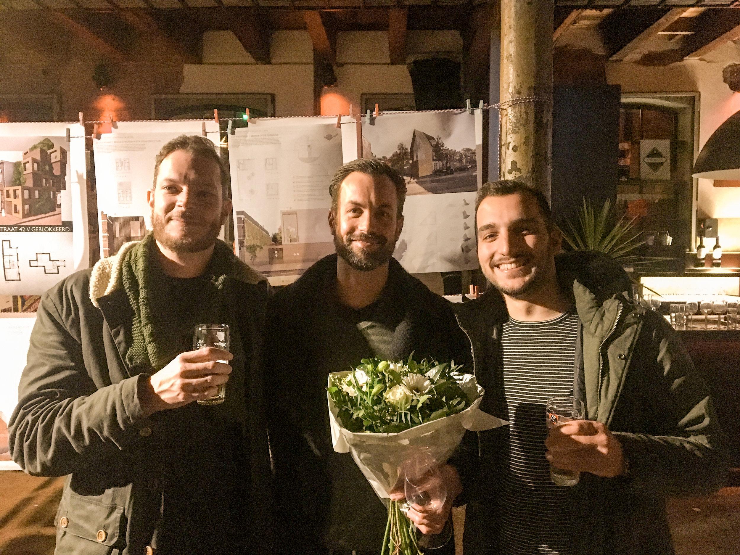Team Qupus (vlnr): Gilles Ketting, Rutger Kuipers, Andi Arifaj