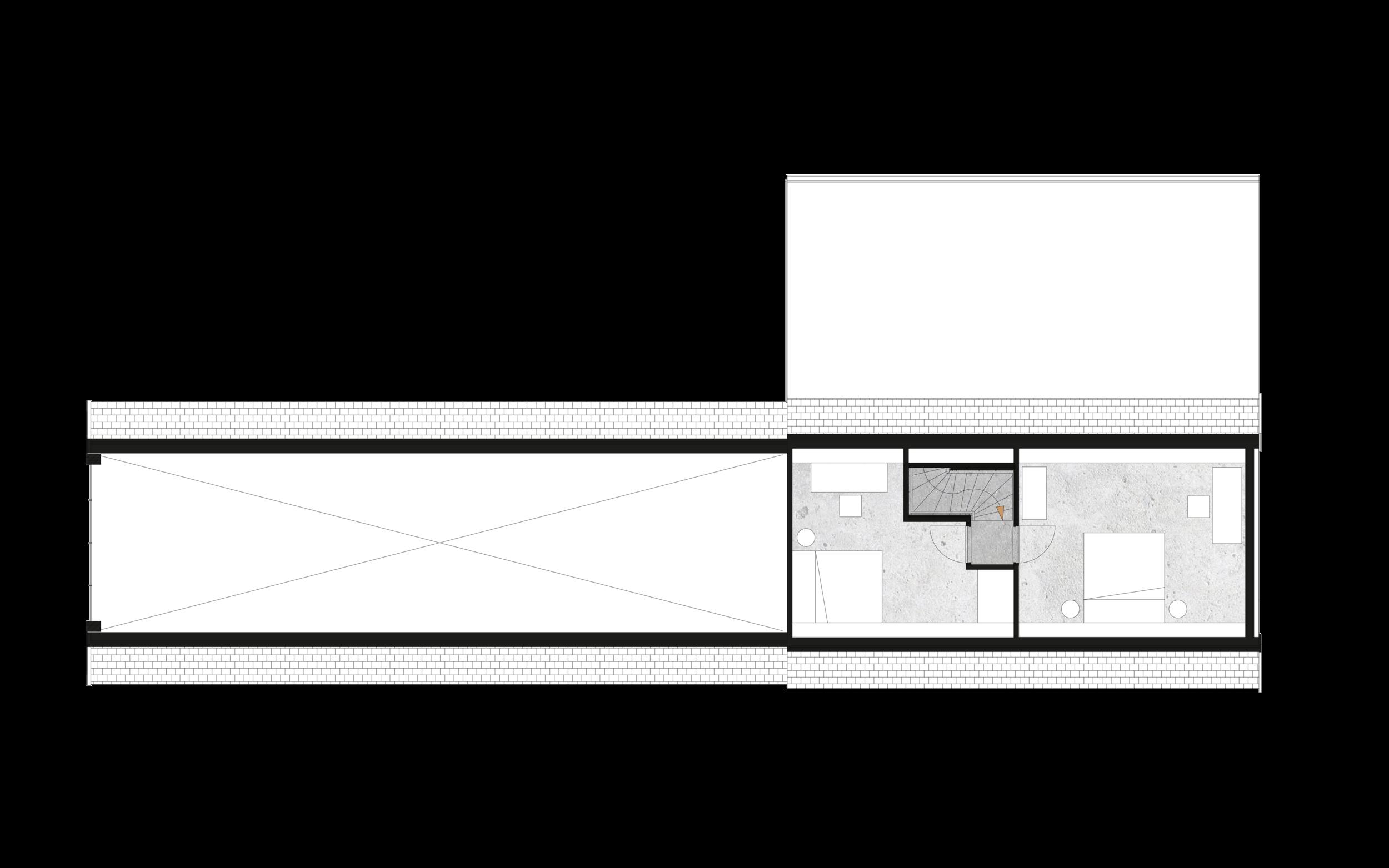 Schuurwoning plattegrond verdieping