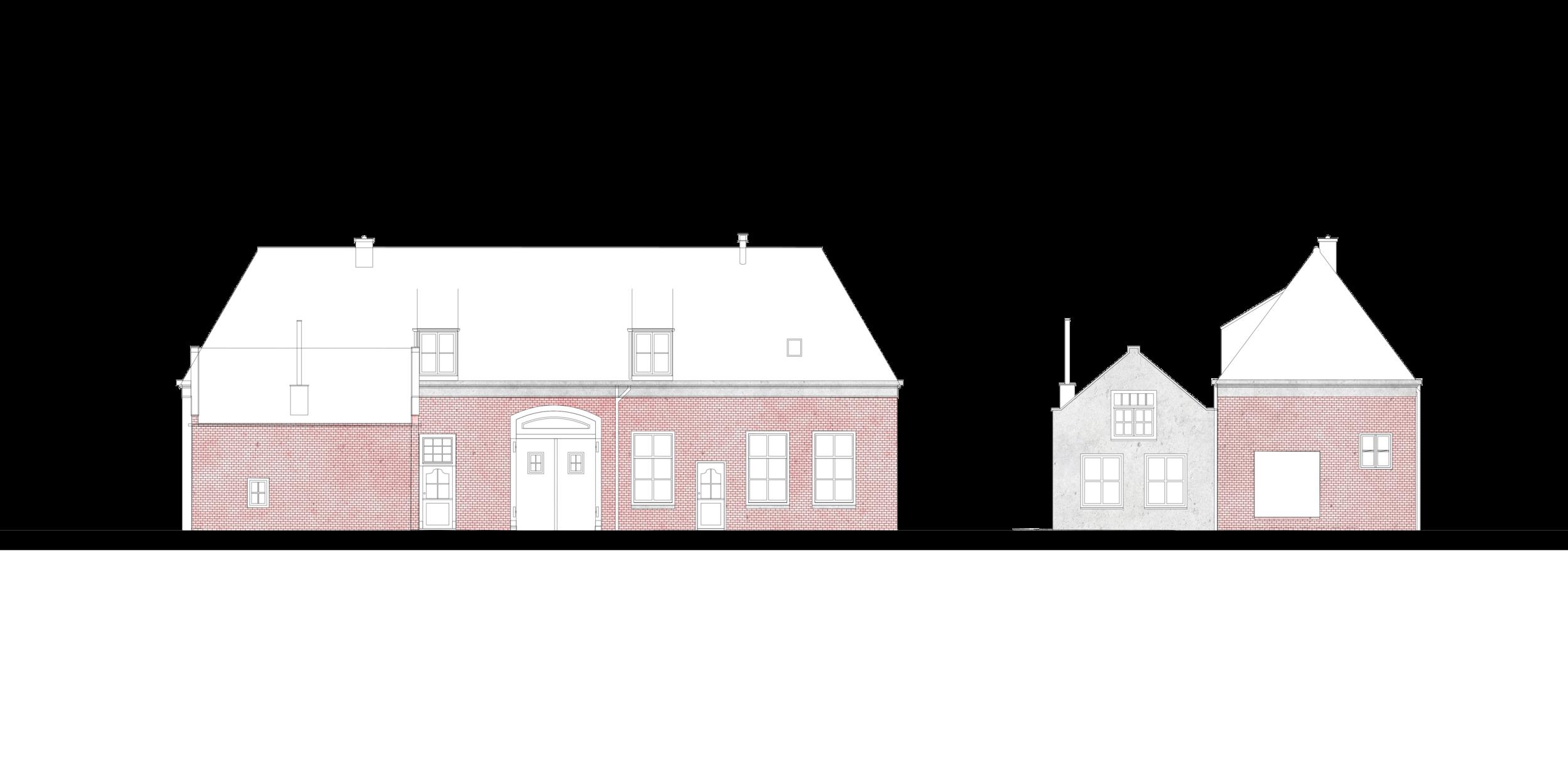 Koetshuis renovatie gevels
