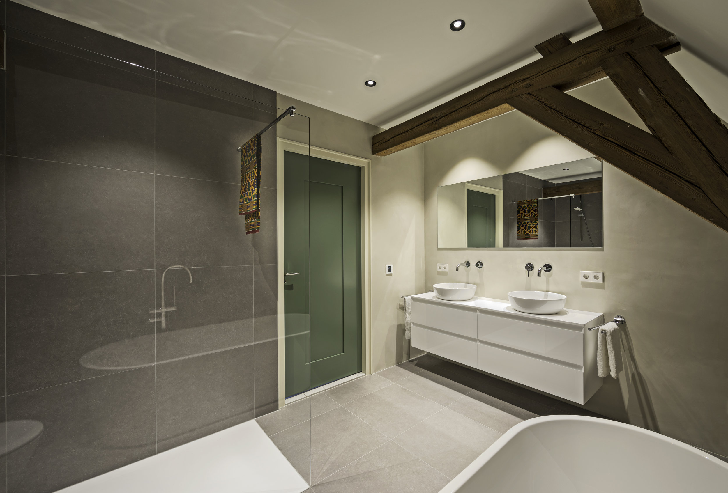 Spant badkamer