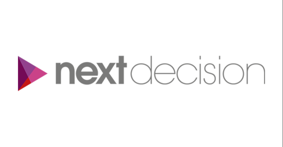 NEXT DECISION  Next Decision support us, as they think our solution can be a tool to add to their own resolution-oriented client package.