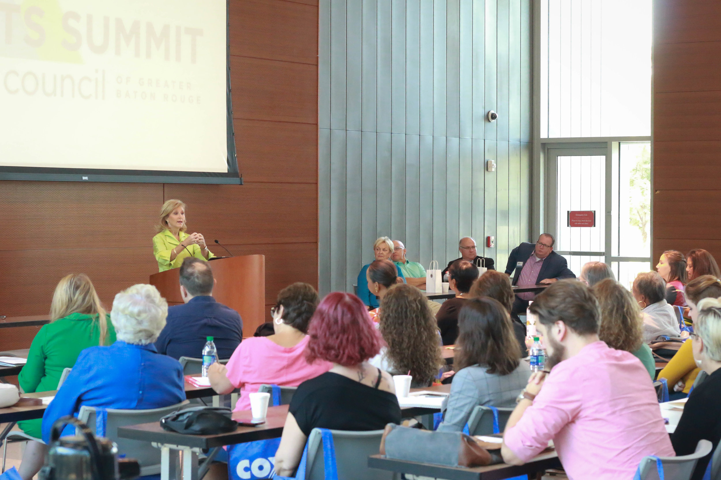 Arts Summit Day 2 featured a full day of workshops, panel discussions and interactive sessions at the East Baton Rouge Parish Library on Goodwood Boulevard, with a welcome address by First Lady Donna Edwards.