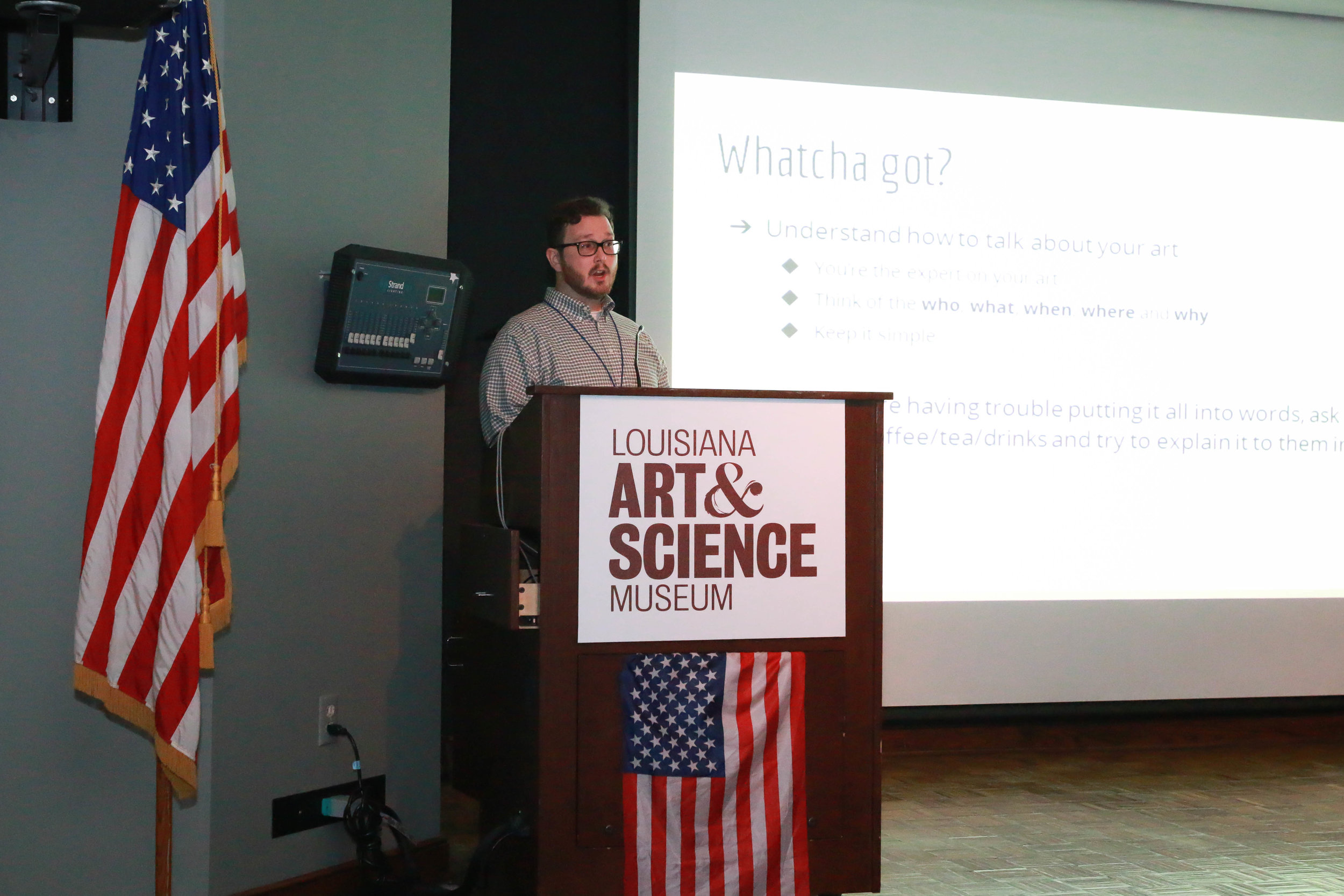 "Jake Clapp, RED Editor at The Advocate presented ""All the art that's fit to print: Tips to help talk to media"""
