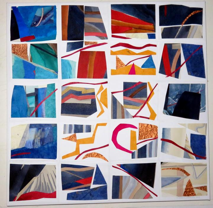 20 CONVERSATIONS  mixed media on canvas e 20x20 inches.JPG