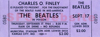 First concert attended: The Beatles / Kansas City MO / September 17th, 1964