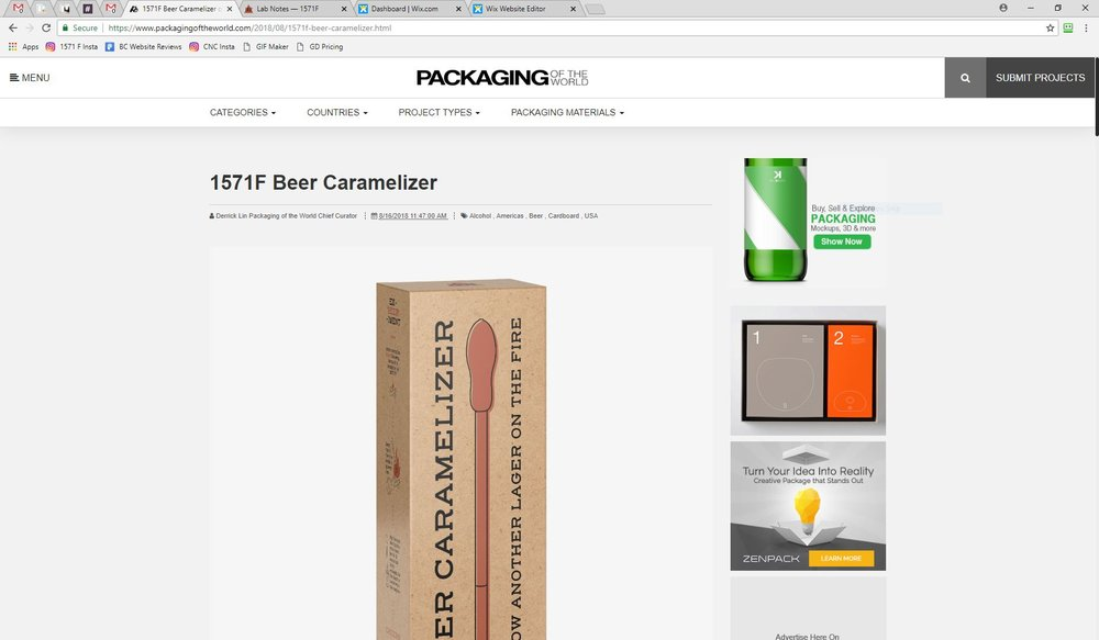 Packaging of the World - 1571F Beer Caramelizer