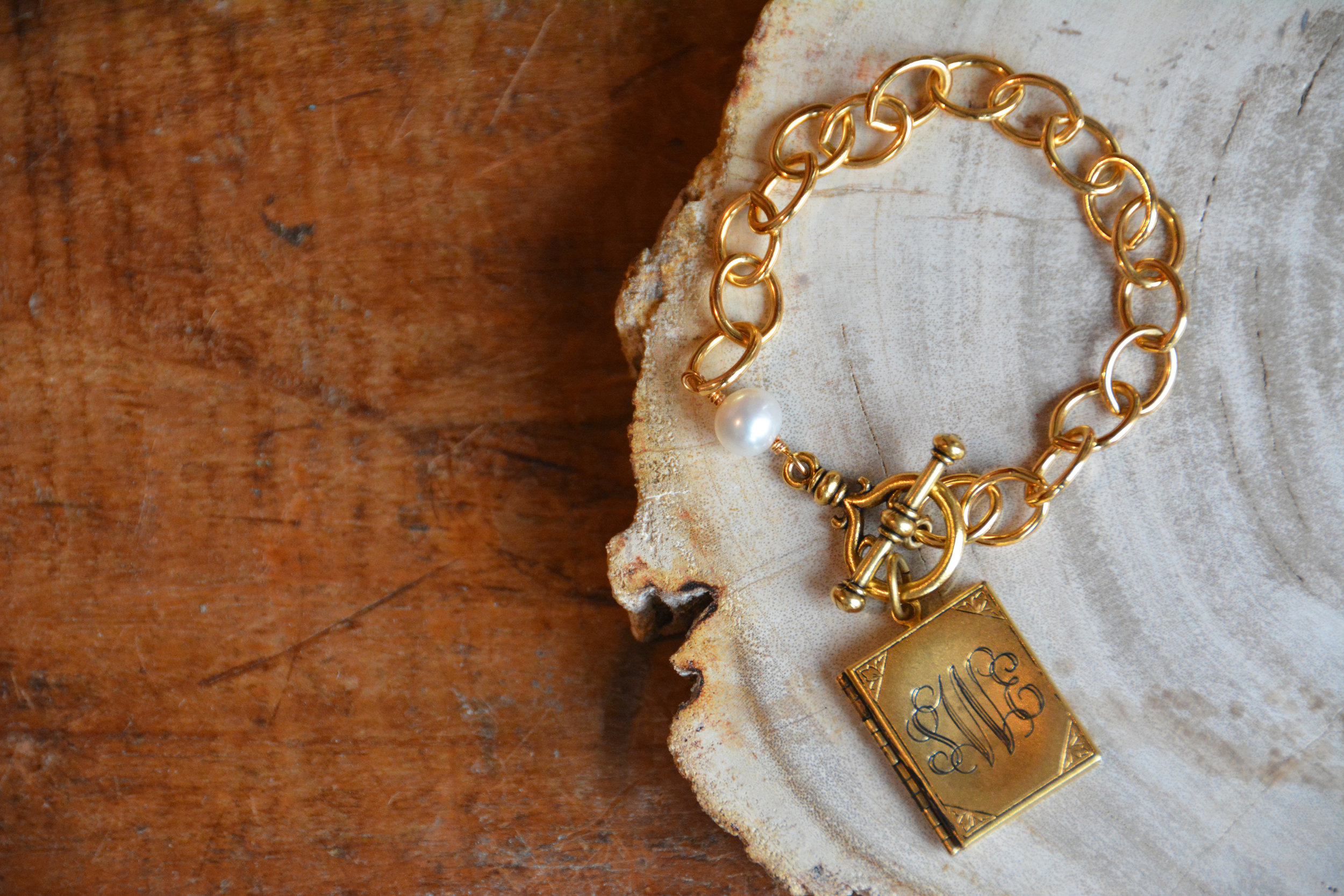 Book Locket Bracelet