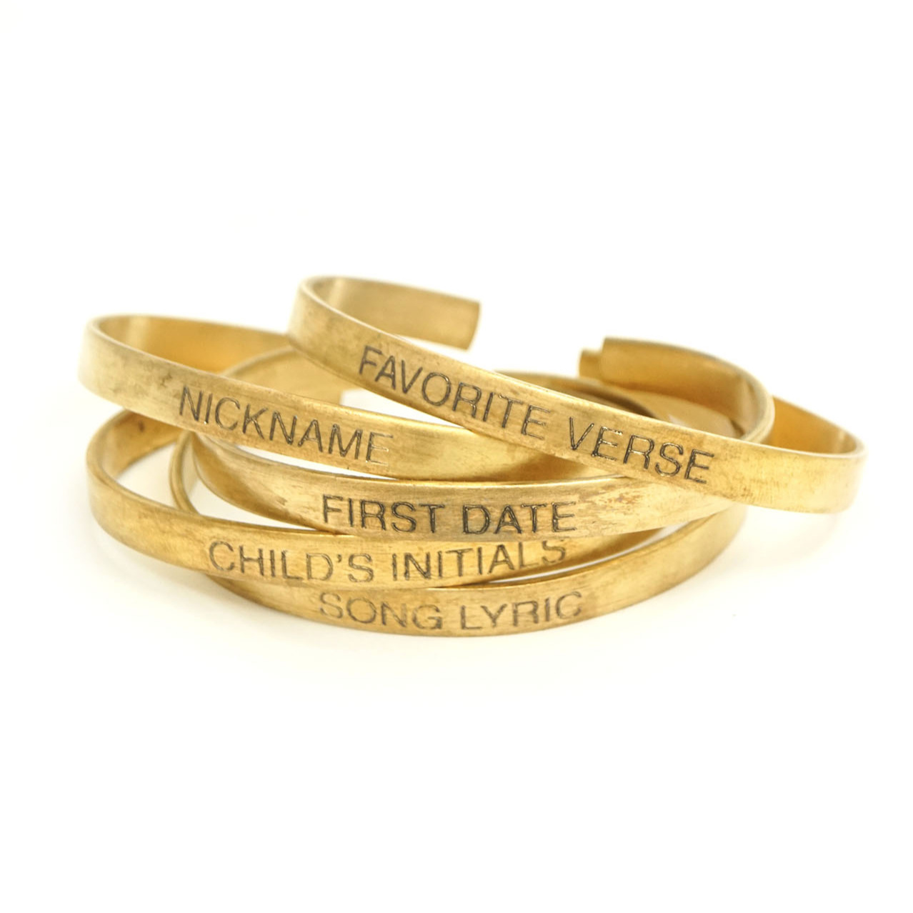 custom engrave jewelry mantra cuff personalize words