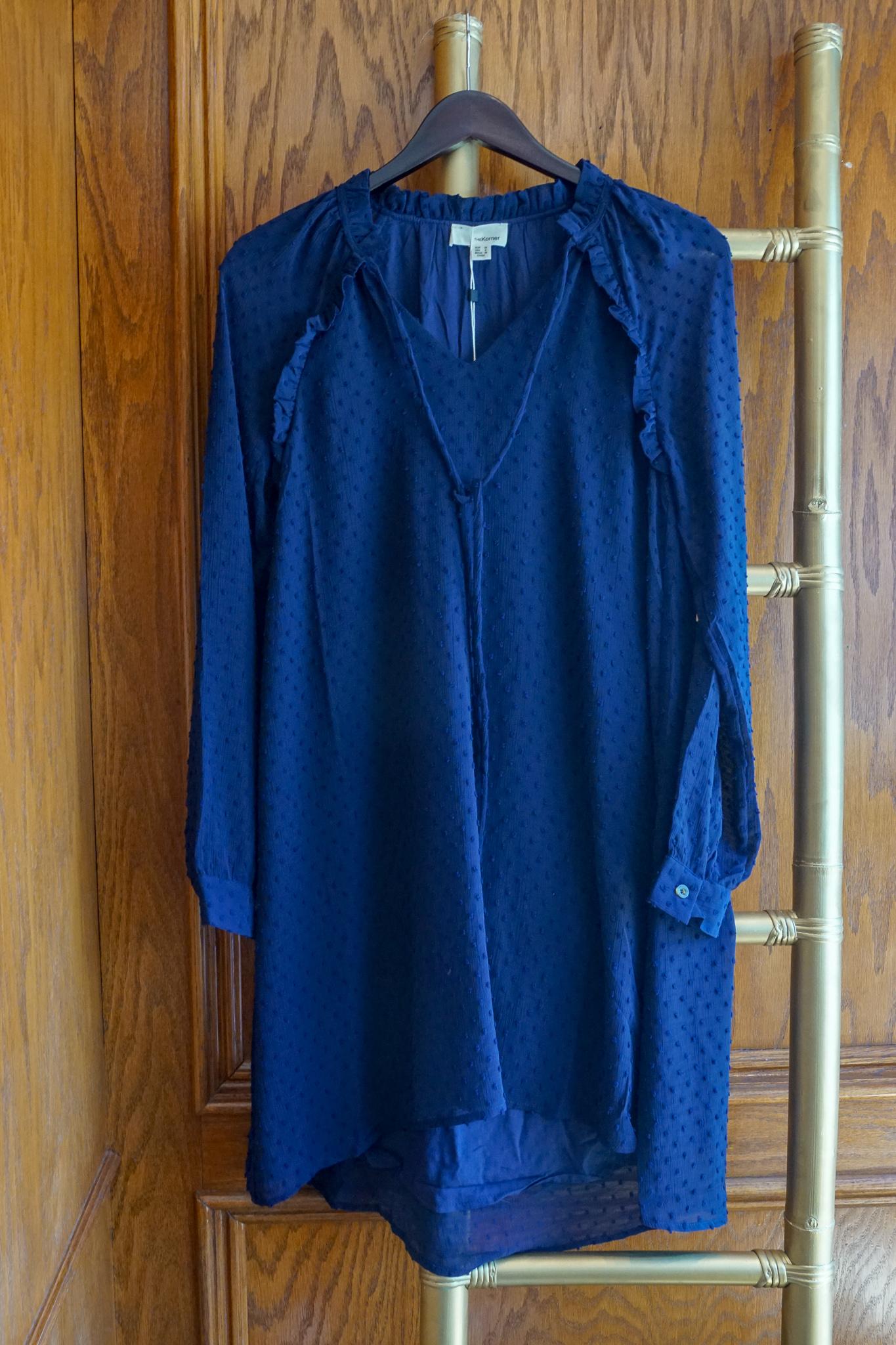 Korner Navy Dress $98 - XS, M, L