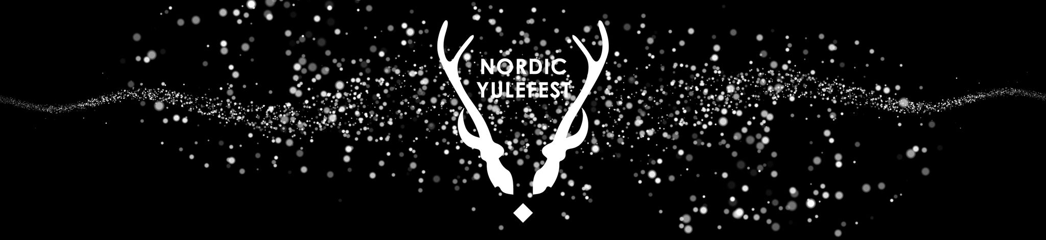 Meredith Collective Nordic Yulefest black snowstorm banner