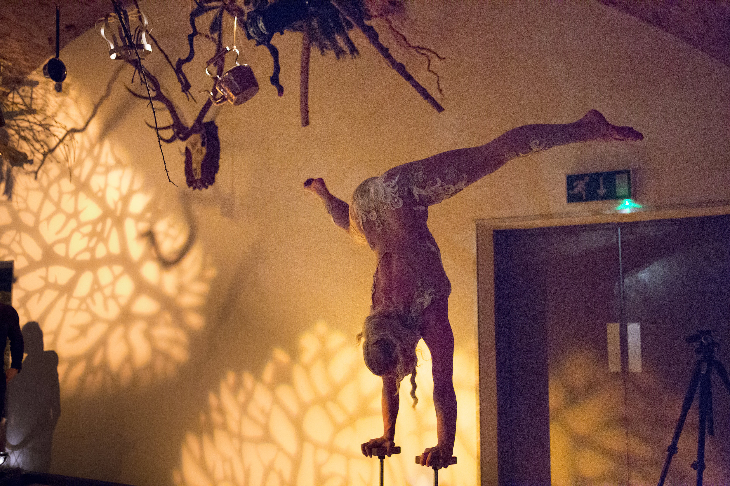 Celebrating the ethereal nature of Christmas, guests were treated to exciting entertainment such as ballet dancers, Tomte Host (Santa Claus to you and me), aerialists, nightly DJ's... - and a Scandi-disco, while 100 year old taxidermy bears decorate photo booths.