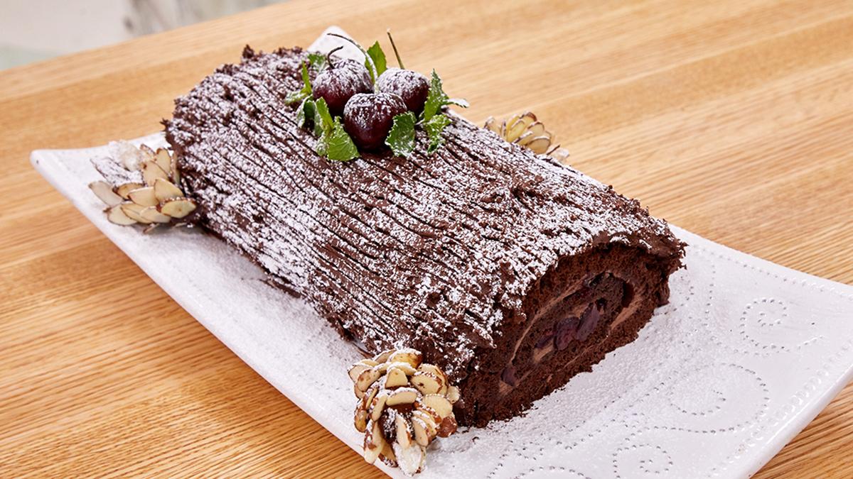Chocolate Cherry Buche de Noel