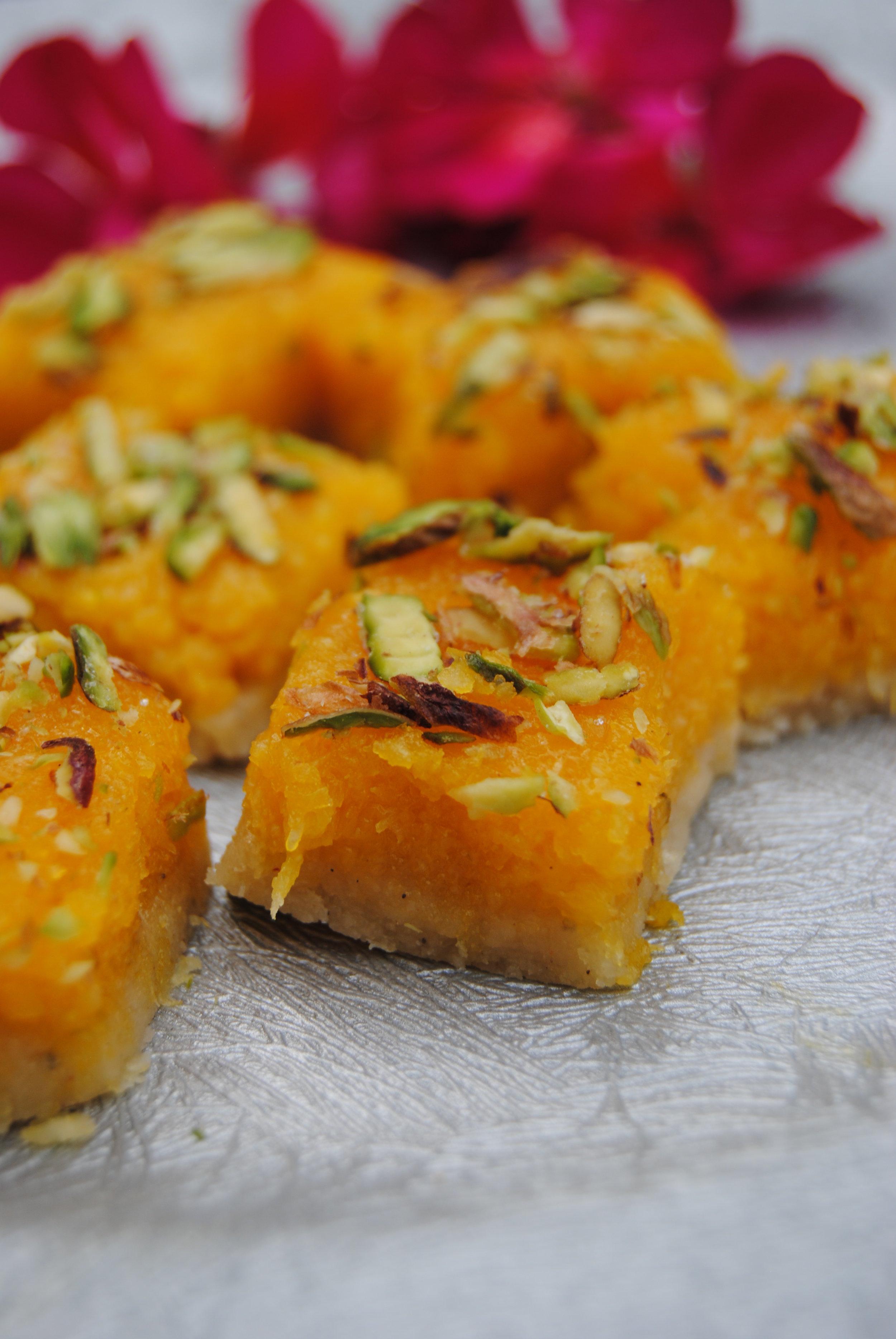 Mango Coconut Burfi