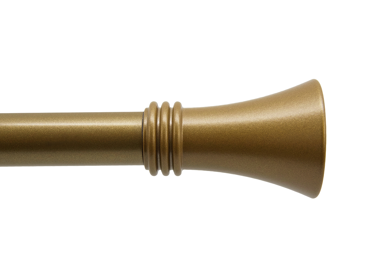 Sempione Finial Vintage Gold Drapery Rod