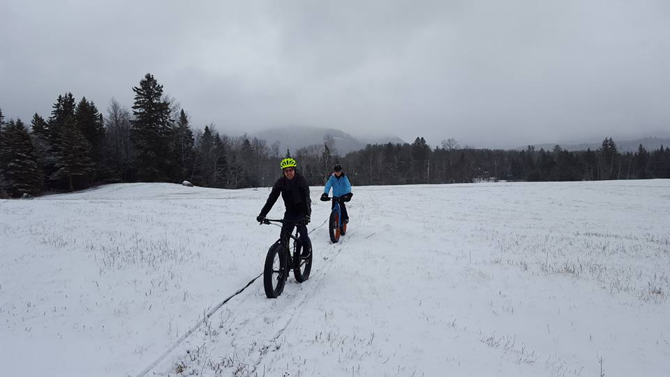 Winter Mountain Biking - It's just like mountain biking on dirt but way cooler! We are the only winter mountain bike guide service in the high peaks region. You will be equipped with Salsa Mukluks. Let our seasoned guides share their passion for riding, hard earned skills and local Adirondack knowledge with you. Excellent family adventure!