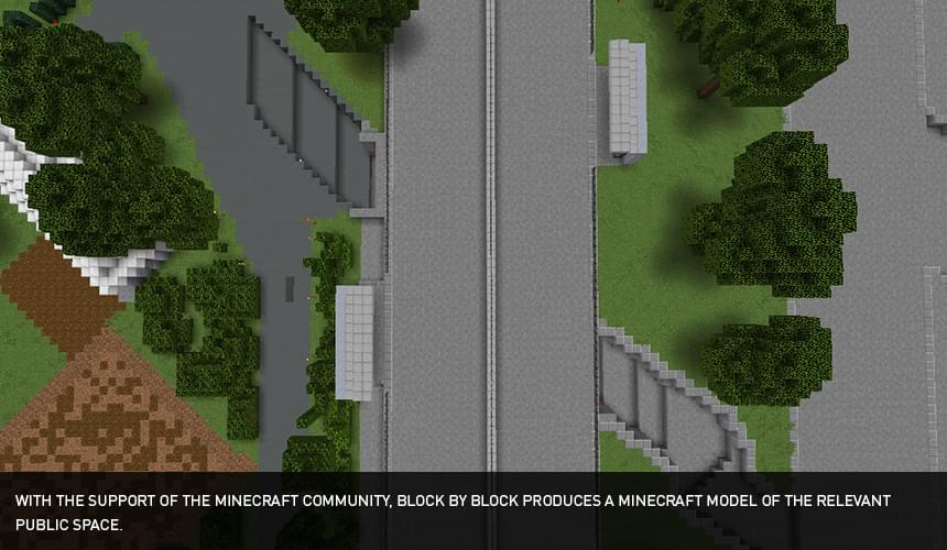 Minecraft model of Kim Chung site, Hanoi