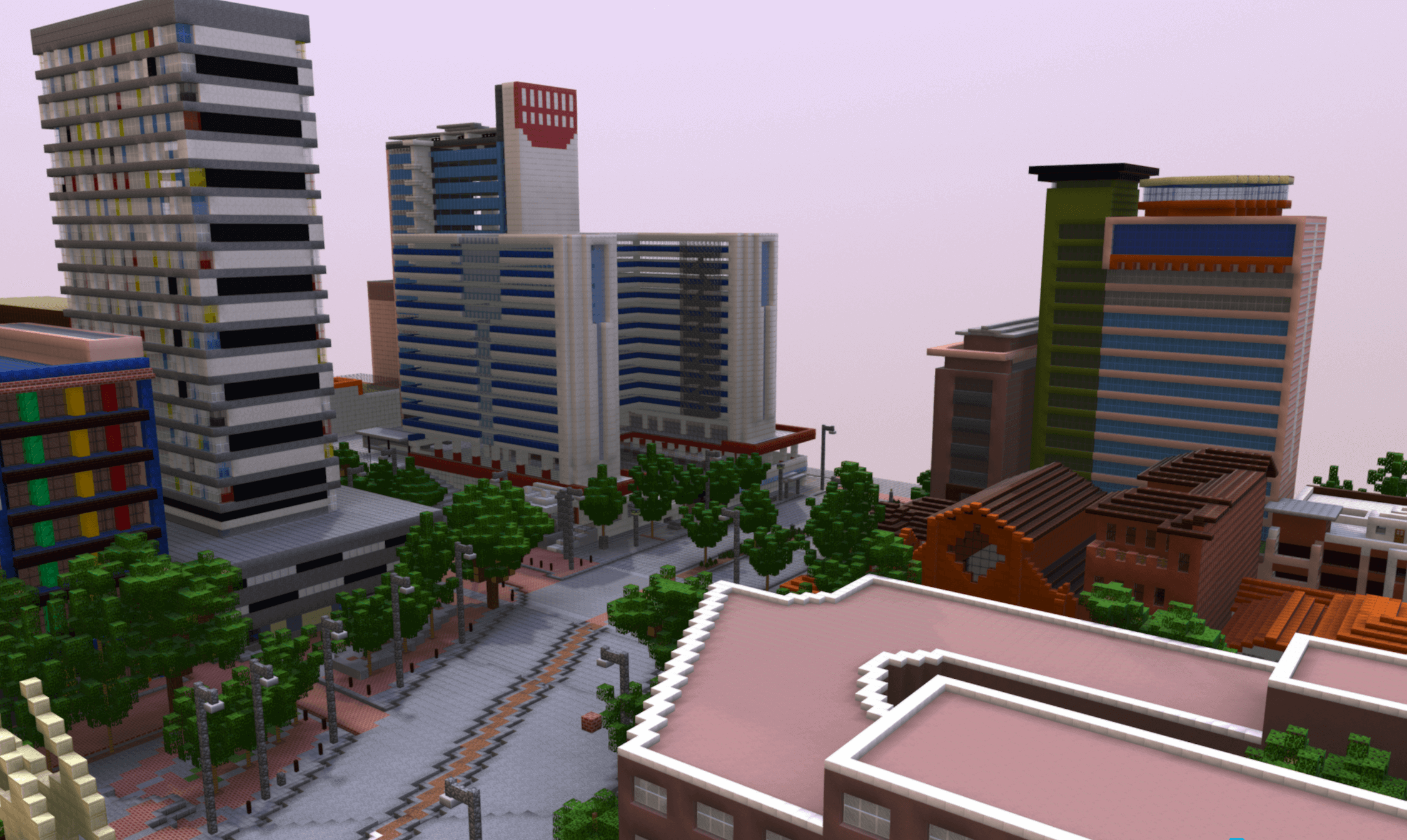 3D Minecraft Model of Community-Designed Public Space, Johannesburg