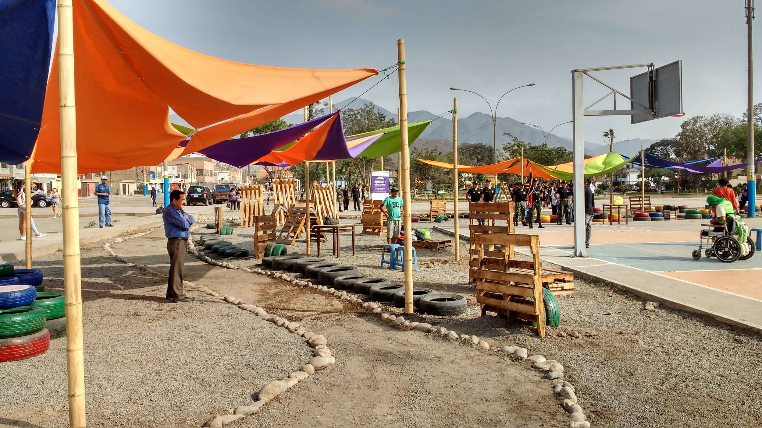 Public space micro-intervention, Parque Manhattan, Lima Credit: Diego Vivas