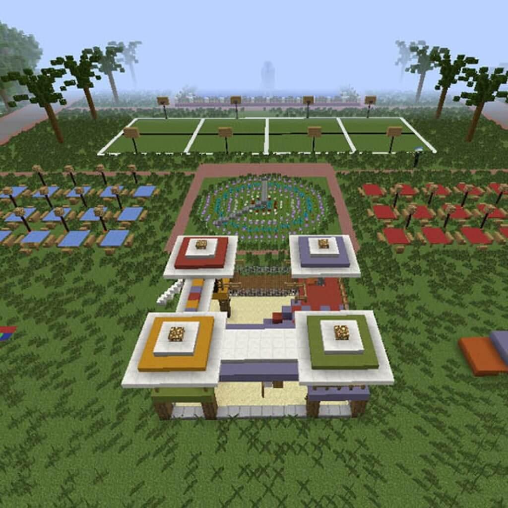 Minecraft design for Rizal Park